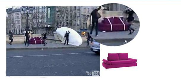 Une pluie de meuble parachuté sur Paris !
