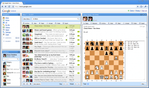 Google Wave inbox chess