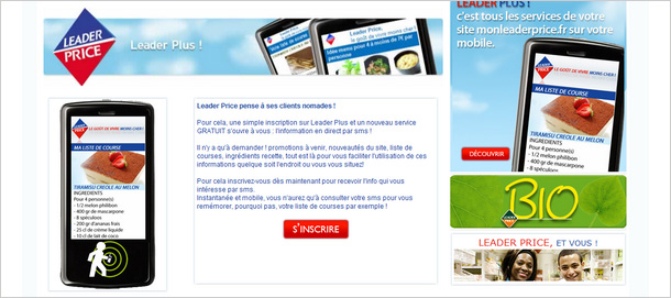 Leader Price lance son programe de marketing relationnel via mobile