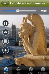 Inerface audio guide pour iPhone