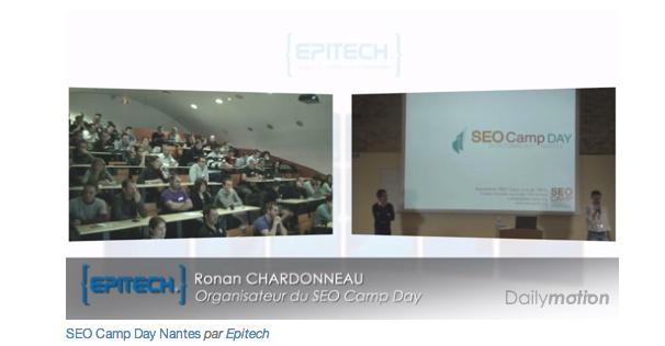 Vidéo des conférences du SEO Camp Day Nantes