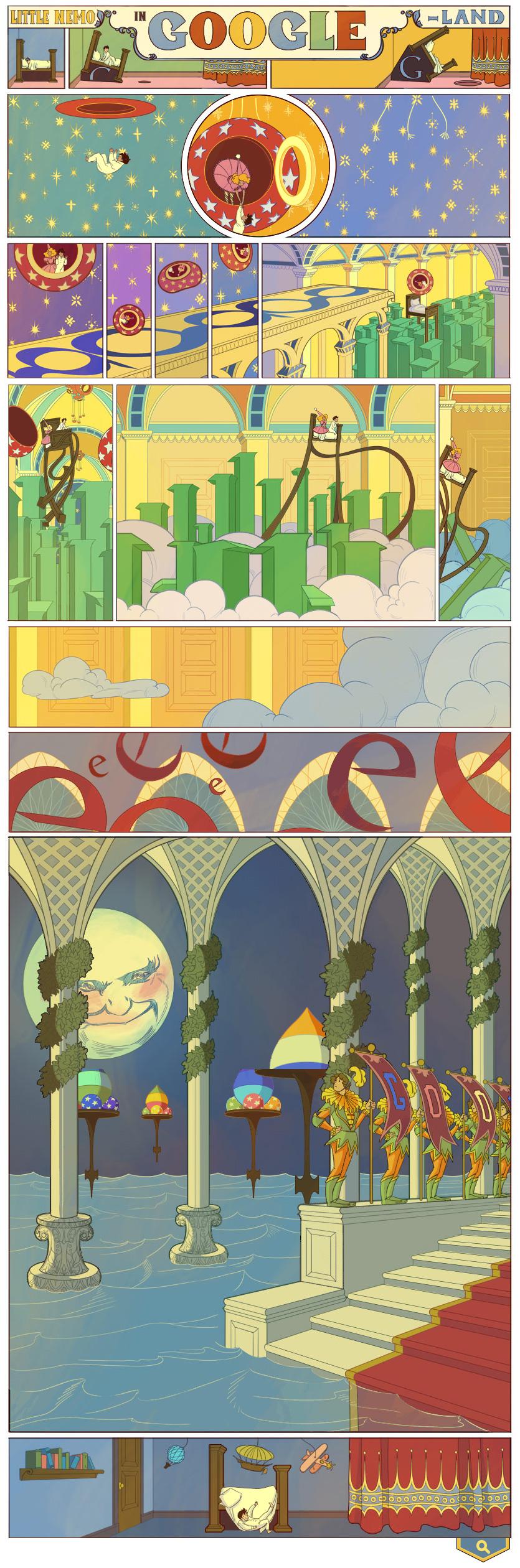 Little NEMO by Winsor McKay (Google Doodle)