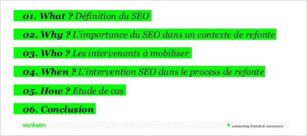 L'importance du SEO (NDLR du R.O.I.) lors de la refonte d'un site