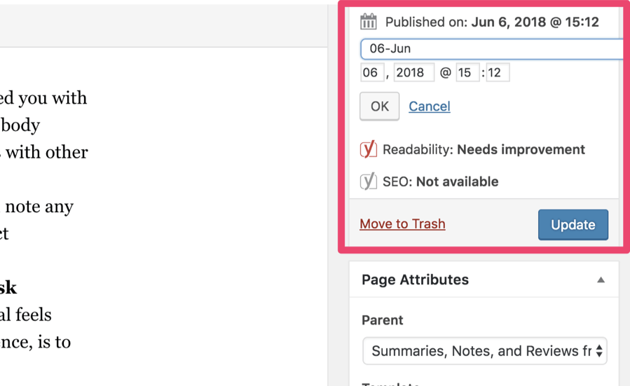 Publication sur WordPress