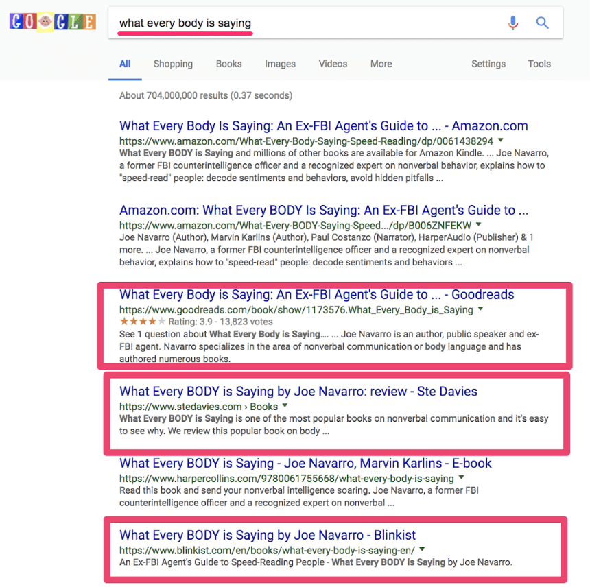 recherche via Google